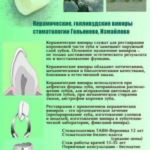 Керамические виниры в стоматологии