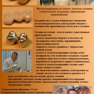 Металлокерамическое протезирование в стоматологии